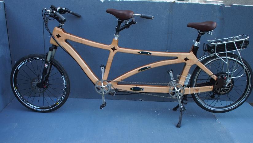 tandem e bike hand made wooden bikes. Black Bedroom Furniture Sets. Home Design Ideas